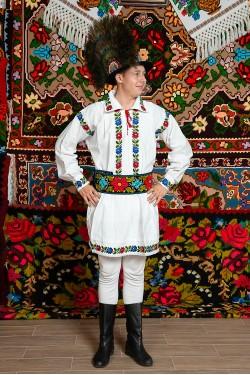 Costum popular barbat Somes ruja mare