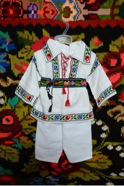 Costum traditional popular baiat Somes botez