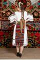 Costum popular femeie - Somes cu pene rosii