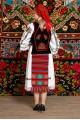Costum popular femeie - Somes cu pene si pieptar infundat, cu pene