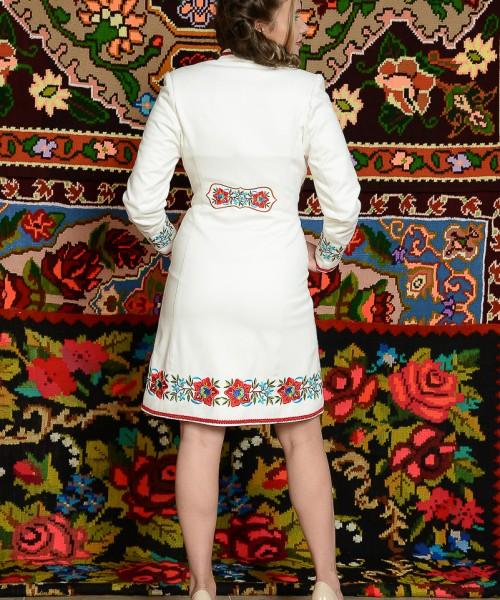 Palton Viorica alb