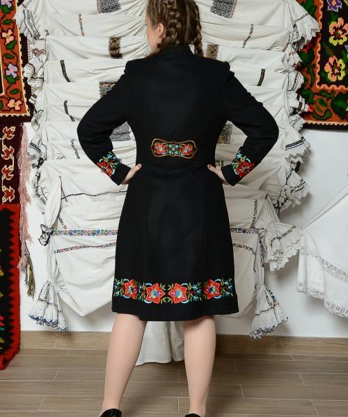 Palton Viorica negru