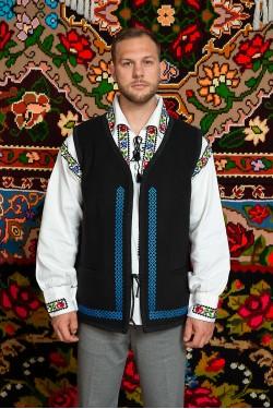 Camasa populara barbat Somes cu vesta romaneasca