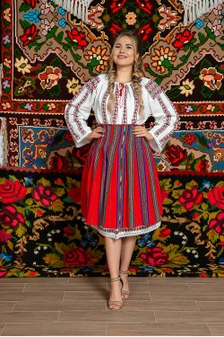 Costum popular femeie Oltenia Olguta